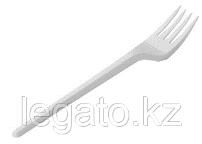 Вилка столовая белая в коробке (ИнтроПластик 3600)120шт/уп