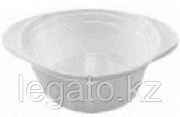 Миска 500мл белая Эконом 5,5гр (ИнтроПластик 1900) 100/уп