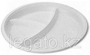 Тарелка 205 3-х секцион. белая НОВАЯ (ИнтроПластик 2000)