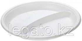 Тарелка 205 2-х секцион. белая НОВАЯ (ИнтроПластик 2000)