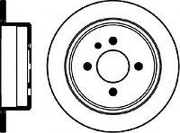 Тормозные диски BMW E30 318, 320, 325, 328 (задние, Optimal)