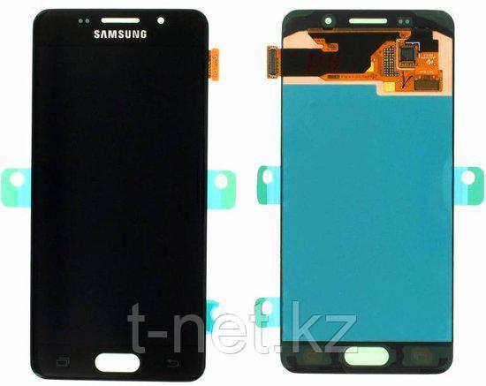 Дисплей Samsung Galaxy A3 Duos (2016) SM-A310F, с сенсором, цвет черный OLED