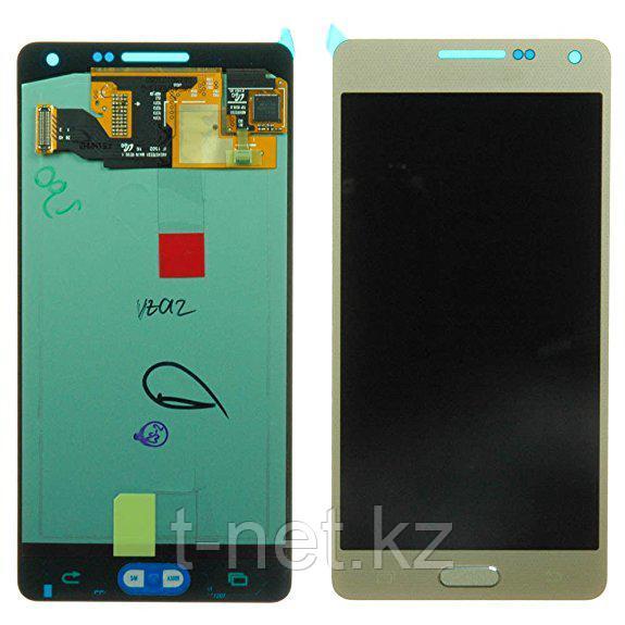 Дисплей Samsung Galaxy A5 SM-A500F, с сенсором, цвет черный