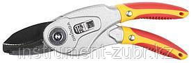 Секатор трансформер, 2 положения: плоскостной и контактный, с алюминиевыми рукоятками, 185мм, GRINDA