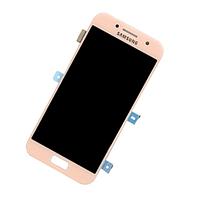 Дисплей Samsung Galaxy A3 Duos (2017) SM-A320F, с сенсором, цвет розовый