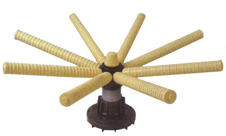 """Нижний дистрибьютор 6""""FLG для 48"""" бака, вход 3»(90мм), диаметр 980 мм, 16 лучей (КНР)"""