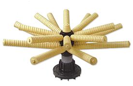 """Нижний дистрибьютор 6""""FLG для 54-63"""" бака, вход 3»(90мм), диаметр 1218 мм, 16 лучей (КНР)"""