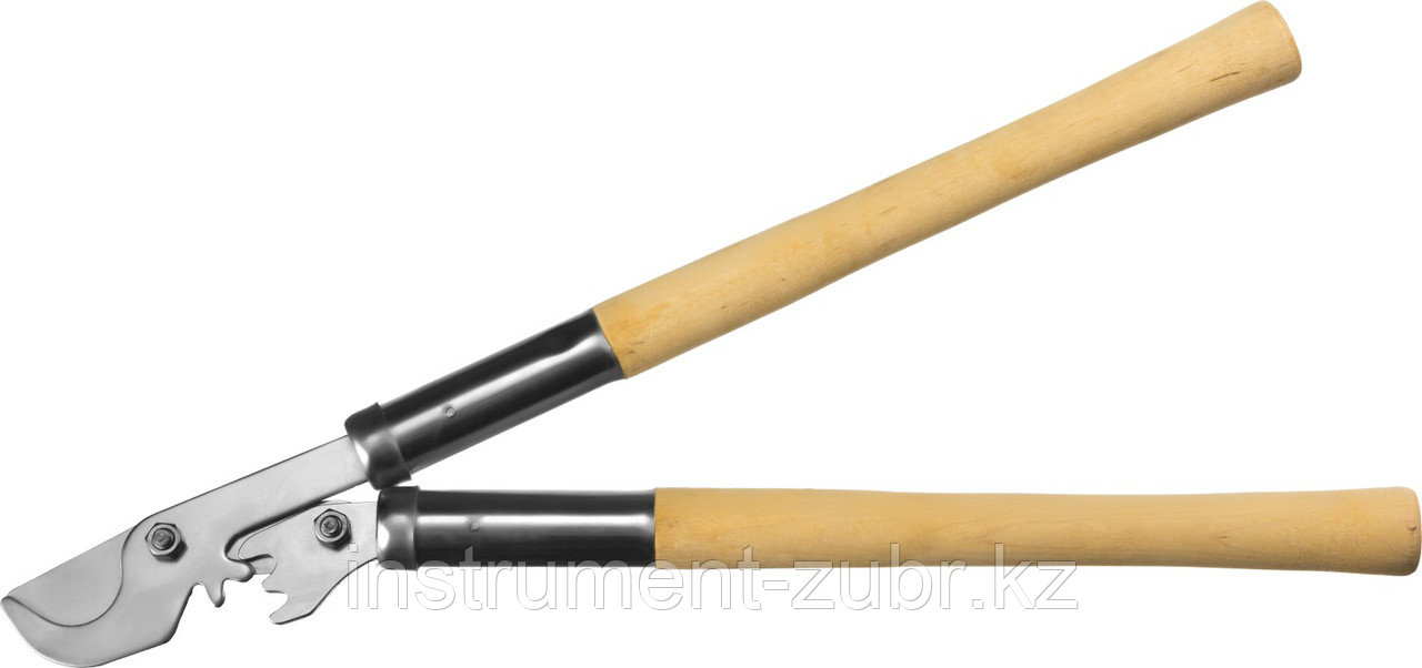 Сучкорез с деревянными рукоятками, с шестерённой передачей, плоскостной, СИБИН