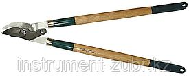 246 плоскостной двурычажный сучкорез с деревянными рукоятками, RACO