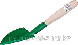 Совок посадочный РОСТОК с деревянной ручкой, широкий, рабочая часть 120мм