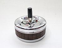 Бездымная пепельница, коричневая, D 10 см
