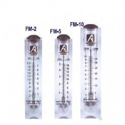 Ротаметр панельного типа модели FM-2 (0,2-2GPM), фото 2