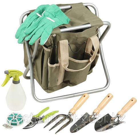 Скамейка GRINDA садовая складная, двухсторонняя, с сумкой и набором инструментов, 7предметов                                                          , фото 2