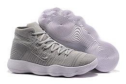 """Кроссовки Nike React Hyperdunk 2017 Flyknit """"Grey/White"""" (40-46)"""
