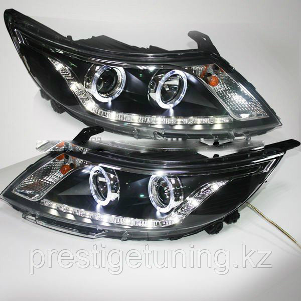 Передние фары Kia Rio Angel Eyes Head Lamp 2011 year Type 1