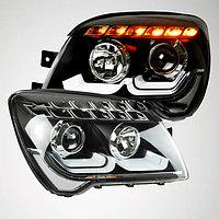 Передние фары KIA Sportage LED Strip Head Lamp 2007-2012 LDV2