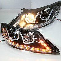 Передние фары KIA Sportage R Angel Eyes LED Head Lamp 2011 U type