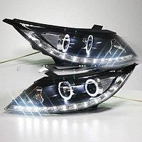 Передние фары KIA Sportage R Angel Eyes LED Head Lamp 2011 V1 type
