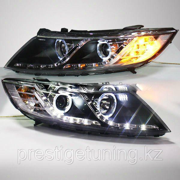 Передние фары KIA Optima K 5 LED Angel Eyes Head Lamp 2011