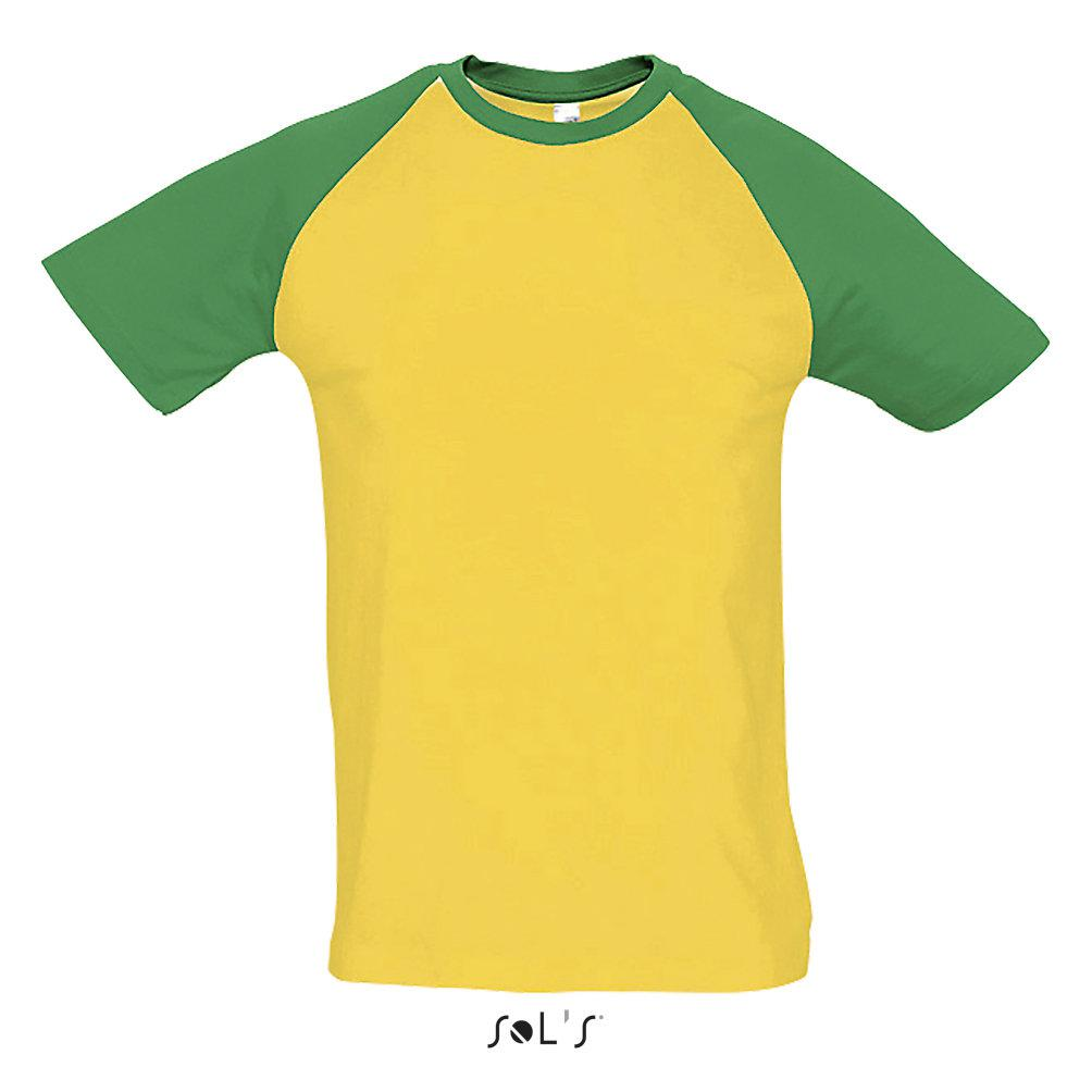 Футболка | Sols Funky XL желто-зеленый