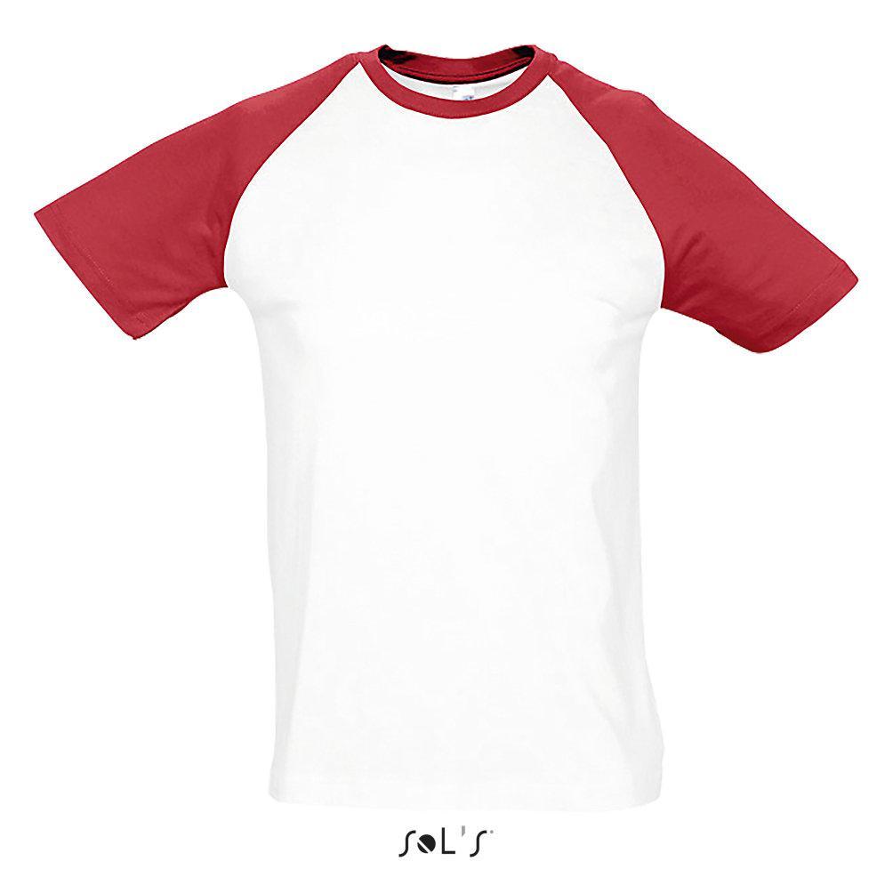 Футболка   Sols Funky M бело-красный