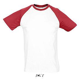 Футболка | Sols Funky L бело-красный