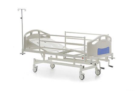 Механическая медицинская кровать 2-х секционная HKM-PB10, фото 2