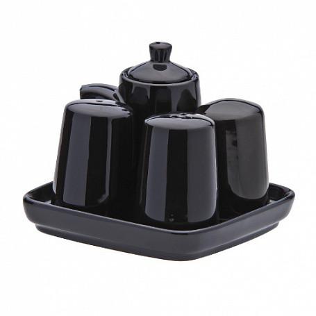 Набор для специй, (в упак 1 шт) черная керамика арт.404(BLK)