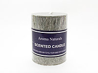 Ароматическая свеча, Aroma Naturals, серая, 8 см