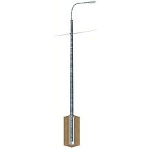 Опоры освещения силовые МС 8, 9, 10, 11, 12 метров (многогранные силовые опоры)