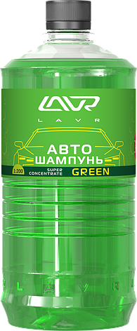 Автошампунь-суперконцентрат Green 1:120 - 1:320 LAVR Auto Shampoo Super Concentrate, 1000мл, фото 2