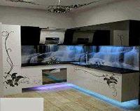 Кухонный фартук как декоративные украшения для стен
