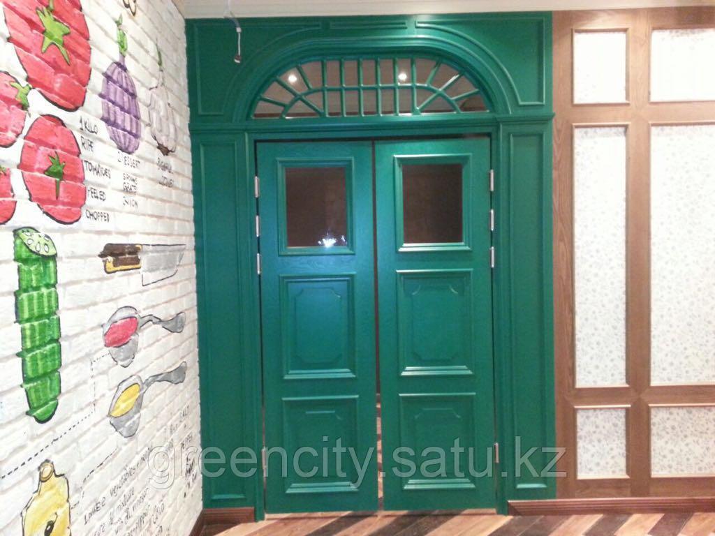 Двери из натурального дерева, изготовление дверей - фото 1