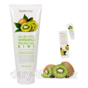 Farm Stay All-In -One Whitening Peeling Gel Cream Kiwi-Пилинг Гель для лица на основе Киви