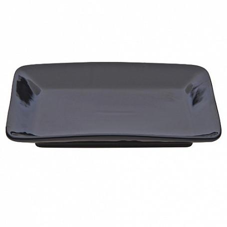Тарелка квадратная 17х17х3,5 см черная керамика арт.8899(BLK)