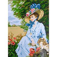 """Набор для вышивания крестиком  Гелиос """"Дама с собачкой"""""""