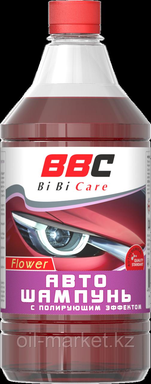 Автошампунь с полирующим эффектом цветочный BiBiCare 1 л