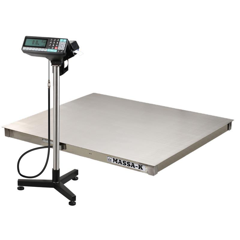 Весы регистраторы платформенные из нержавеющей стали с печатью этикеток 4D P.S 2 RP c НПВ на 1000кг, 1500кг