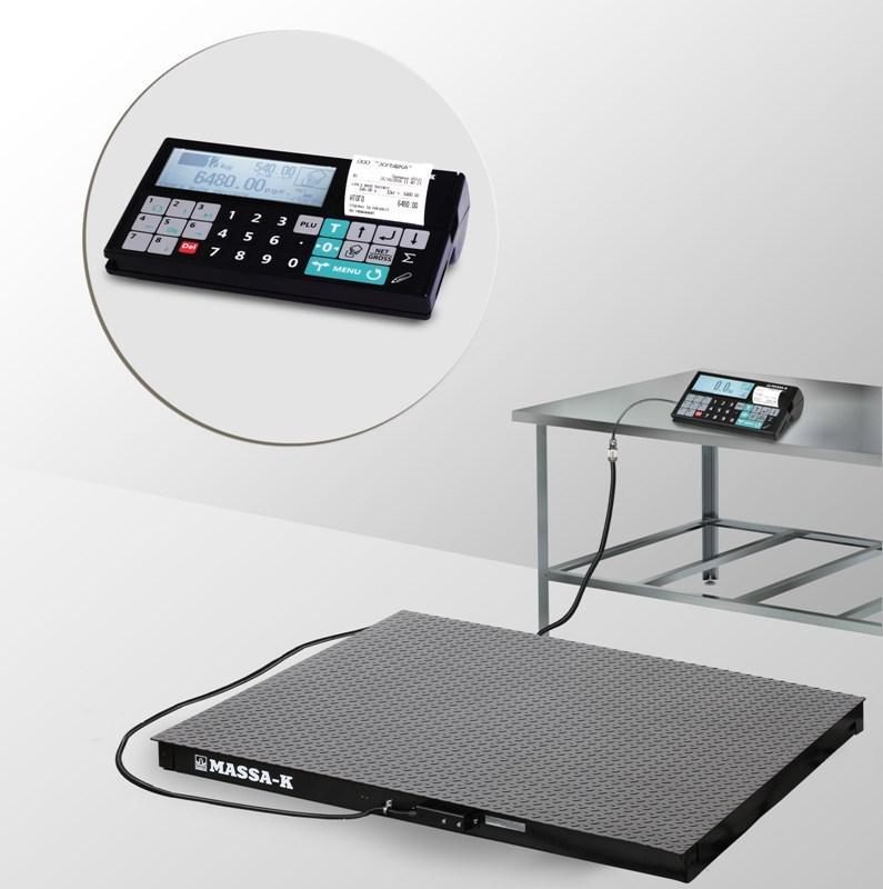 Весы регистраторы платформенные с печатью чеков 4D P 2 RС с НПВ на 1000кг,1500кг
