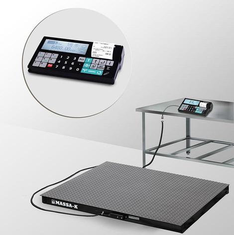 Весы регистраторы платформенные с печатью чеков 4D P 2 RС с НПВ на 1000кг,1500кг, фото 2