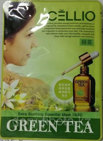 CELLIO-Маска для лица с экстрактом зеленого чая
