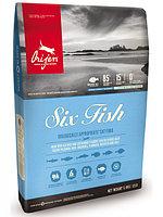 Сухой беззерновой корм для кошек Orijen Six Fish шесть рыб