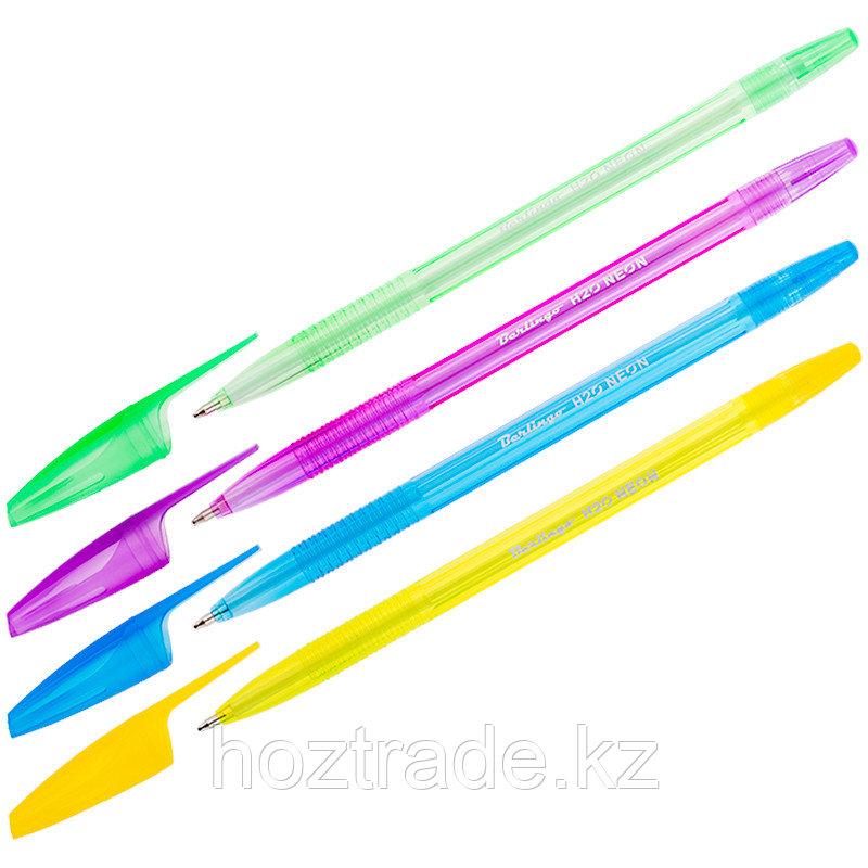 Ручка шариковая Berlingo H-20 Neon синяя, 1 мм