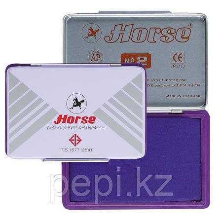 Штемпельная  подушка Китай Horse №2 фиолетовая