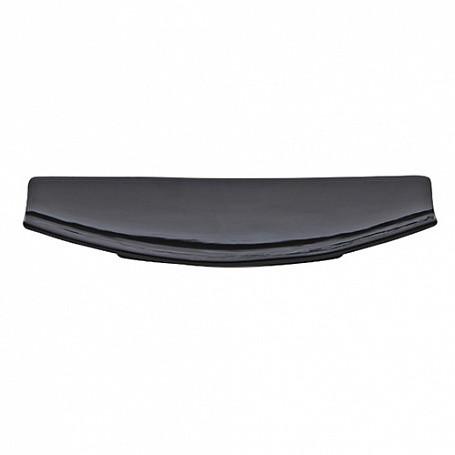 Тарелка прямоугольная 26х12,5х3 см, (в упак 6 шт) черная керамика арт.7601(BLK)
