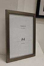 Рамка А4, фоторамка для сертификатов и документов, для вручения серо-зеленая, под дерево, в розн. и оптом