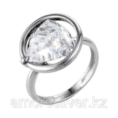 Кольцо Красная Пресня из черненного серебра, фианит, геометрия 2386412-7