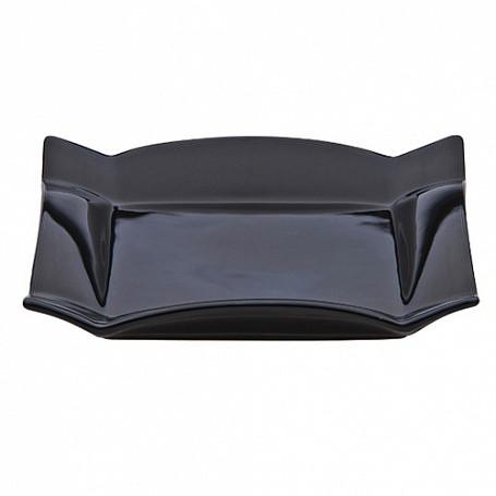 Тарелка прямоугольная 30х20х4 см, (в упак 4 шт) черная керамика арт.268(BLK)