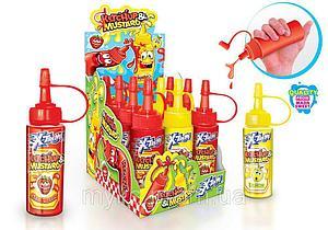 X-TREME® Ketchup & Mustard, конфета-гель, в виде кетчупа и горчицы 55гр, (12 шт в упаковке)