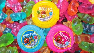 Жев. Резинка bebeto candy crush gum  рулетка 40гр
